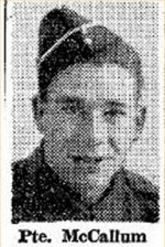 Newspaper clipping– Source:  Hamilton Spectator, August 26, 1944