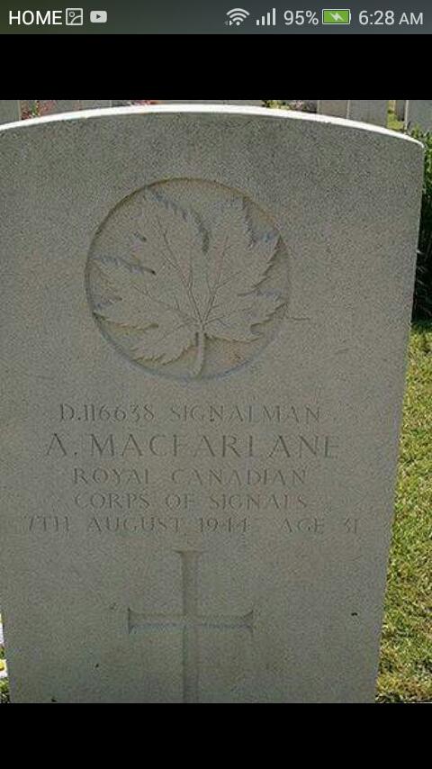 Grave Marker– Angus Macfarlane gravestone