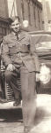 Photo of Hugh Alphonse MacInnis– Private Hugh MacInnis in Antigonish N.S. before his deployment overseas.