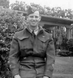 Photo of Hugh Alphonse Macinnis– In September 1943 Hughie was promoted from the rank of Private to the rank of Lance Bombardier with the Royal Canadian Artillery but possibly was restless  'to see more action' and in December 1943  transferred to the Infantry division.