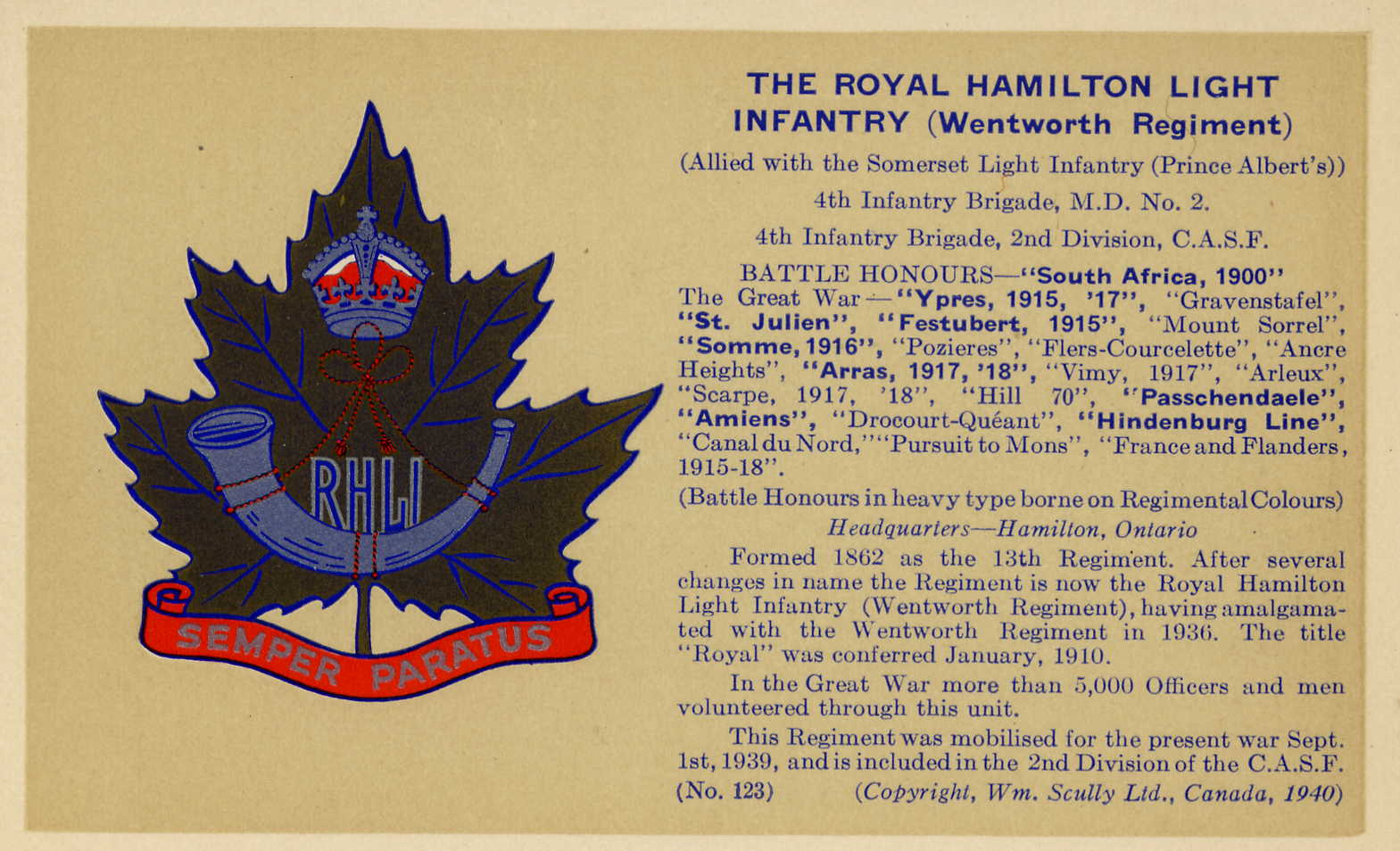 Royal Hamilton Light Infantry