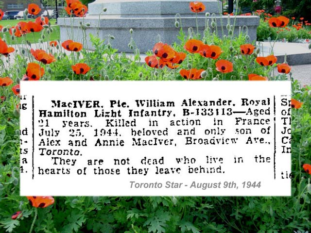 """Newspaper Clipping– """"Deaths on Active Service"""" newspaper column."""