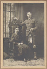 Photo of ALEXANDER MACKENZIE– Alex MacKenzie and his sister, Grace. He was a shy man and never married. Family members received long letters from him detailing his adventures.