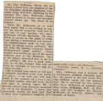 Letter– Letter received by family from Army Chaplin.