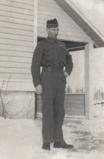 Photo of ALEXANDER MACKENZIE– Alex deducted four years from his age when he enlisted in Vancouver in 1940. He could have served behind the lines, but chose to enter the fighting and died three days after D-Day.