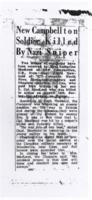 Newspaper clipping– Printed from the Sydney Post Record following his death in Normandy.
