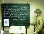 Exposition commémoratif – Un témoinage poignant d'un lieutenant est resté au tableau de l'école du village et a servit de rédaction aux élèves pendant quelques semaines.