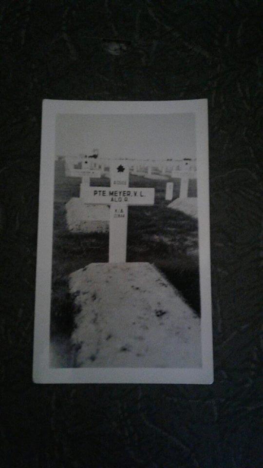 Temporary Grave Marker– Victor Meyer original, temporary grave marker
