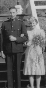 Photo of Donald Ritchie– Wedding day