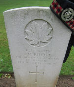 Grave Marker– Gravestone at Bretteville-sur-Laize Canadian War Cemetery, Calvados, France.