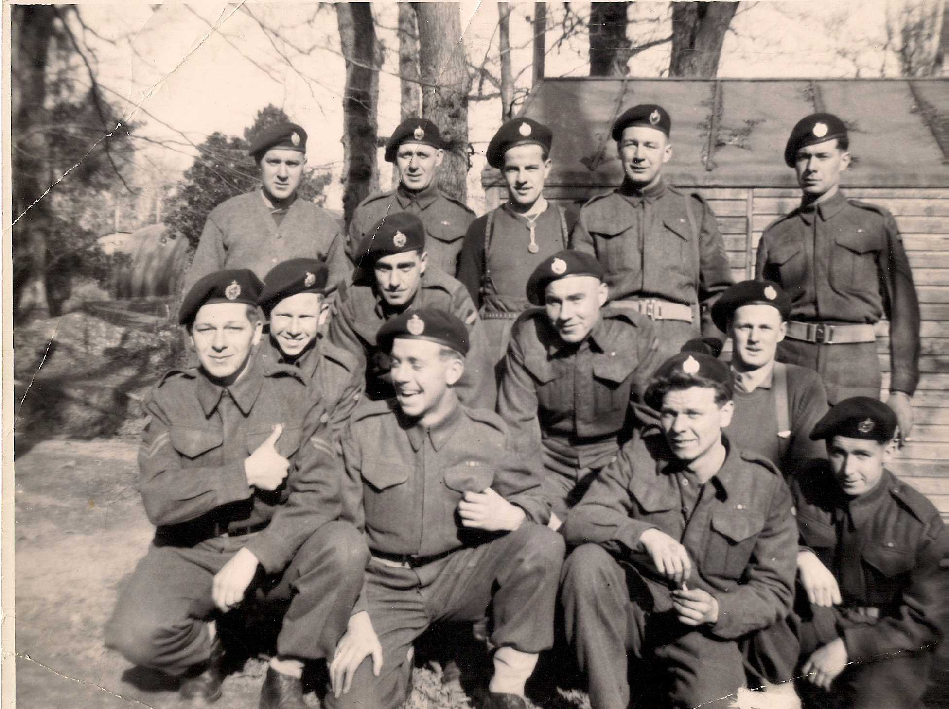 Group Photo– Trooper J.W. Ritchie is first on the left in the middle row in this photograph.