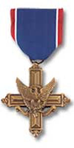Distinguished Service Cross– Awarded posthumously for actions during the World War II The President of the United States of America, authorized by Act of Congress, July 9, 1918, takes pride in presenting the Distinguished Service Cross (Posthumously) to Private Robert V. Secord, Canadian Army, for extraordinary heroism in connection with military operations against an armed enemy in action against enemy forces on 14 August 1944, near Estreos-la-Champaigne, France. As his platoon of the 1st Battalion, Cameron Highlanders of Ottawa (MG) was advancing under a heavy and sustained artillery and mortar barrage, Private Secord carried out his duties as medical orderly coolly and skillfully. Caught in a shellburst while dressing the wounds of a sergeant, he threw himself across his body to shield him from further injury, thereby sacrificing his life. General Orders: Headquarters, European Theater of Operations, U.S. Army, General Orders No. 263 (September 25, 1945) Action Date: 14-Aug-44 Service: Canadian Army Rank: Private Battalion: 1st Battalion Regiment: Cameron Highlanders of Ottawa (MG)