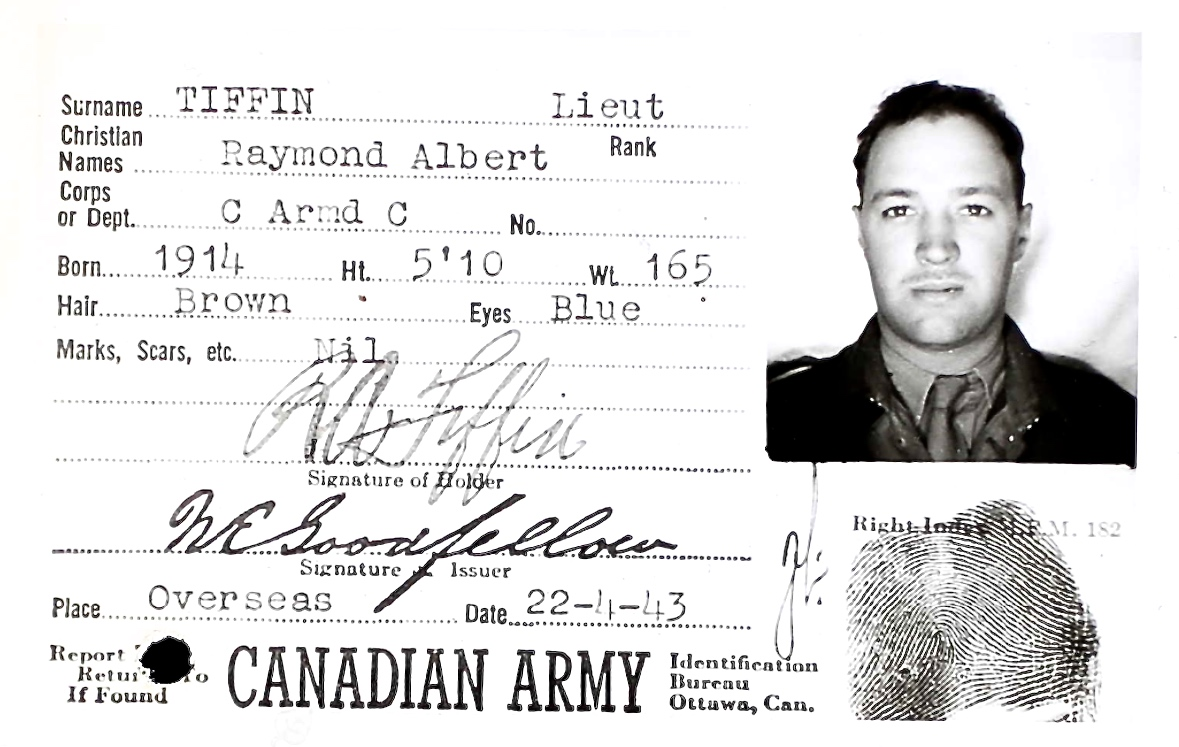 Photo of RAYMOND ALBERT TIFFIN– Submitted for the project Operation Picture Me