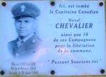 Commemorative Plaque– Commemoratif Plaque for the 60th Anniversary of Liberation (August 23, 2005).