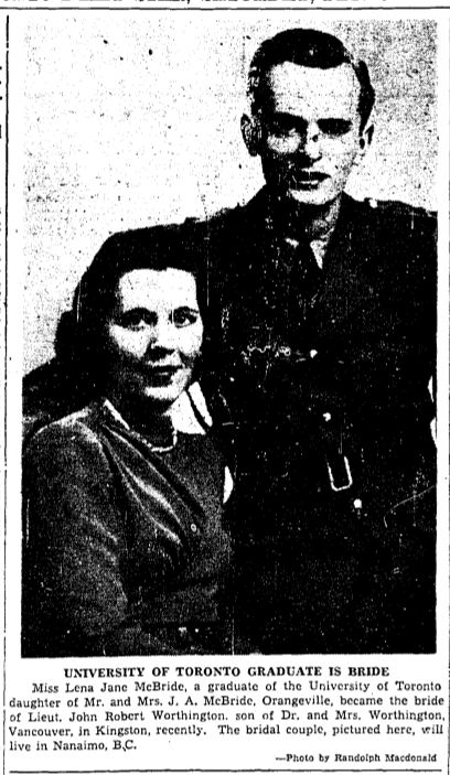 Newspaper clipping– From the Toronto Star February 1941. Submitted for the project Operation Picture Me
