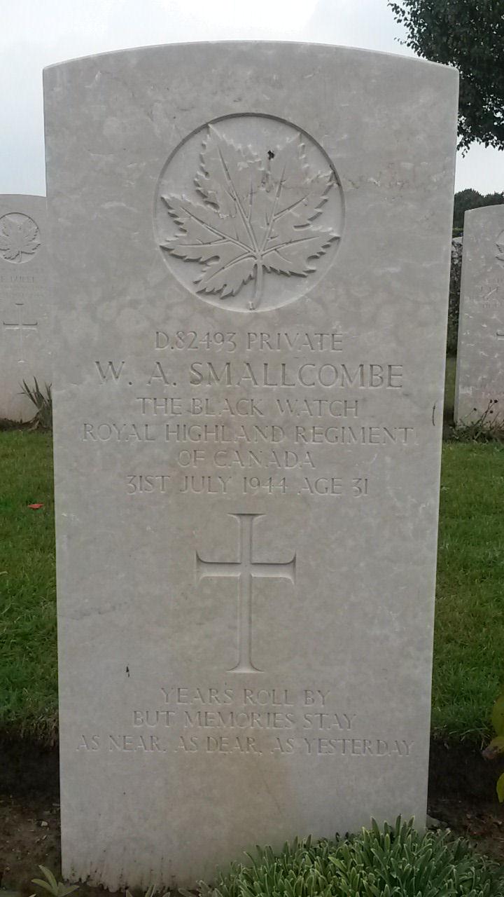 Grave marker– Headstone of William A Smallcombe