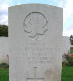 Pierre tombale – La pierre tombale de J.M. Rousseau au cimetière Ranville, en France.