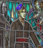 Memorial Stained Glass– Ex-cadets are named on the Memorial Arch at the Royal Military College of Canada in Kingston, Ontario and in memorial stained glass windows to fallen comrades.  2803 Lt Joseph Philippe Rousseau (RMC 1940) was the son of J. M. A. L. and Gabrielle Fafard Rousseau, of Montreal, Quebec, Canada.He served with the 1st Canadian Parachute Battalion, R.C.I.C. He died on June 7, 1944 at 23 years of age. He was buried in the Ranville War Cemetery in Calvados, France.