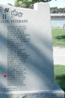 Memorial– Private Donald Graham Turner is also commemorated on the WWII Memorial in Orillia, ON … photo courtesy of Marg Liessens