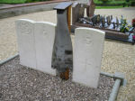 Cemetery– This is the photo of the communal grave in Normee, Marne Region of the Champagne Department of France, where Hugh Fraser Mackenzie is buried with his pilot, James F Ineson, and three other members of their crew. They were shot down on 4th May 1944 on the Mailly Le Camp raid.