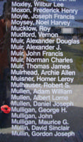 Memorial– Flying Officer George Harold Mulligan is also commemorated on the Bomber Command Memorial Wall in Nanton, AB … photo courtesy of Marg Liessens