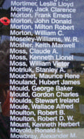 Memorial– Pilot Officer John Donald Morton is also commemorated on the Bomber Command Memorial Wall in Nanton, AB … photo courtesy of Marg Liessens