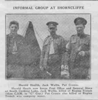 Photo of JOHN BAPST CRONIN– From the Loyal Edmonton Regimental magazine the Fortyniner.  Submitted for the project, Operation Picture Me