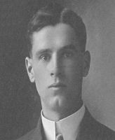 Photo of Gordon Guild– Gordon Grover Guild, born in Ridgetown, ON 1893 Oct 27, raised in Alberta, joined 101st Edmonton in 1913, joined war in 1915 May 11, sailed from Montreal 1915 Nov 20, sustained shrapnel wound below the shoulder blades in France 1915 Mar 22, returned to duty after 7 weeks, wounded again on Sep 15, returned in early Oct to die in the Battle of Flers-Courcelette, quickly buried nearby, reburied early 1920 in the Regina Trench Cemetery