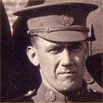 Photo of Harry Hutchinson– 101368 Pte Harry Hutchinson 66th Bn CEF Taken in Edmonton March 1916