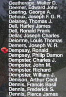 Memorial– Observer Ronald Dempsay is also commemorated on the Bomber Command Memorial Wall in Nanton, AB … photo courtesy of Marg Liessens