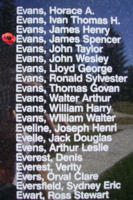 Memorial– Flight Sergeant James Spencer Evans is also commemorated on the Bomber Command Memorial Wall in Nanton, AB … photo courtesy of Marg Liessens