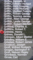 Memorial– Flying Officer Henry Grimble is also commemorated on the Bomber Command Memorial Wall in Nanton, AB … photo courtesy of Marg Liessens