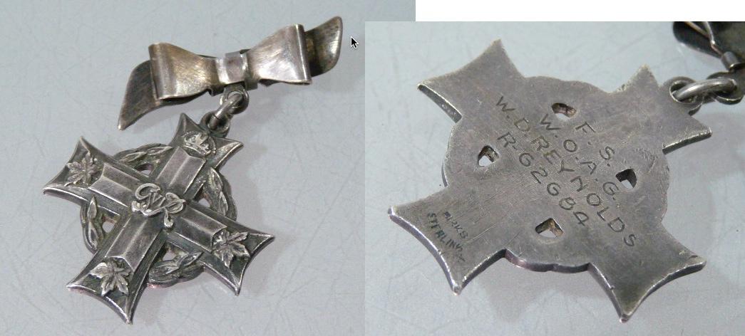 Memorial Cross– Memorial cross for W.D. Reynolds