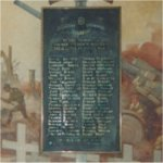Memorial Plaque– The memorial at De La Salle College (Oaklands) Toronto to the former students killed in the Second World War.