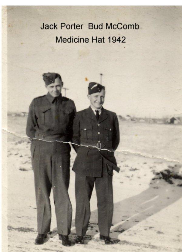 Photo of Bud McComb with Jack Porter