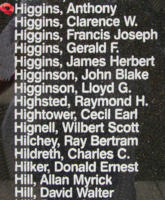 Memorial– Pilot Officer Anthony Higgins is also commemorated on the Bomber Command Memorial Wall in Nanton, AB … photo courtesy of Marg Liessens