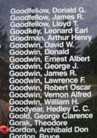 Memorial– Sergeant Archibald Don Gordon is also commemorated on the Bomber Command Memorial Wall in Nanton, AB … photo courtesy of Marg Liessens