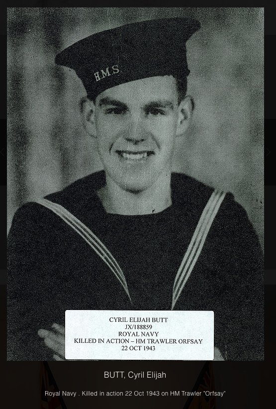 Photo of ELIJAH CYRIL BUTT– In memory of the men and women from the Clarenville, Newfoundland area who went away to war and did not come home. Submitted on behalf of the Clarenville Legion (Branch 27) for the project, Operation Picture Me