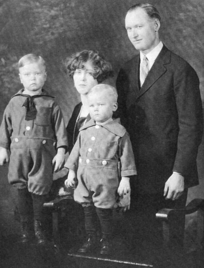 Photo of Clarence Madson– L- R Clarence, Charlotte, Raymond and McKinlay. Submitted for the project Operation Picture Me