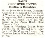 Obituary– John Secter is honoured on page 66 of the memorial book,