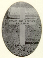Grave Site– Archibald's grave site in the Sangro River War Cemetery, Italy.