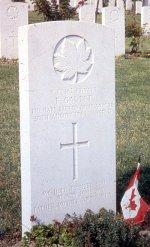 Grave marker for F. Gaudet