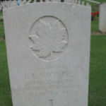 """Grave Marker– Belleisle Regional High School (2013) - """"Lest We Forget""""  In 2013, the grade 11 Modern History students at Belleisle Regional High School continued to write biographies for soldiers from the local area who died during the First and Second World Wars."""