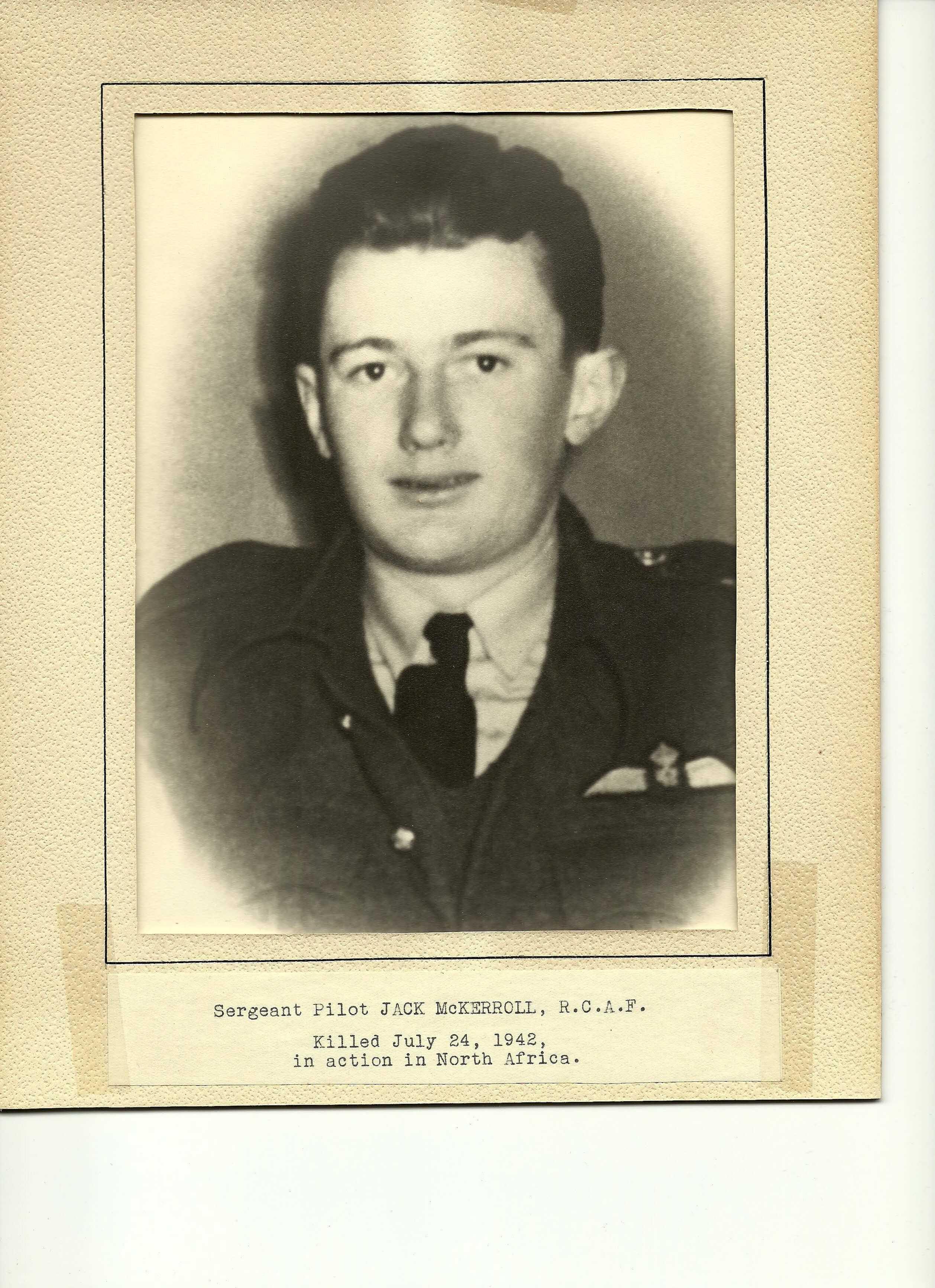 """Photo of JOHN MALCOLM MCKERROLL– John """"Jack"""" McKerroll"""