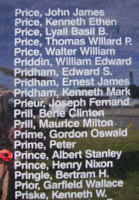 Memorial– Sergeant Albert Stanley Prince is commemorated on the Bomber Command Memorial Wall in Nanton, AB … photo courtesy of Marg Liessens