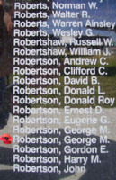 Memorial– Flight Sergeant George Murray Robertson is also commemorated on the Bomber Command Memorial Wall in Nanton, AB … photo courtesy of Marg Liessens