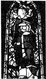 Memorial Stained Glass– Eric Rodgers Church Stained glass memorial window by Charles William Kelsey. This World War II memorial is in St Barnabas Anglican Church, 95 Lorne, St Lambert, Quebec. http://www.stbarnstlambert.org/