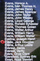 Memorial– Sergeant Jack Douglas Evelle is also commemorated on the Bomber Command Memorial Wall in Nanton, AB … photo courtesy of Marg Liessens