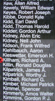 Memorial– Sergeant Richard Archibald Killham is also commemorated on the Bomber Command Memorial Wall in Nanton, AB … photo courtesy of Marg Liessens
