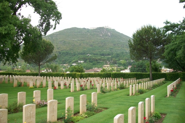 Cemetery– Cassino War Cemetery - May 2013 … Photo courtesy of Marg Liessens